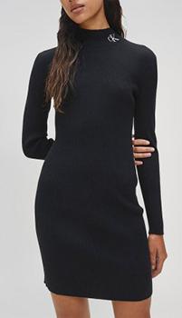 Трикотажное платье Calvin Klein выше колена, фото