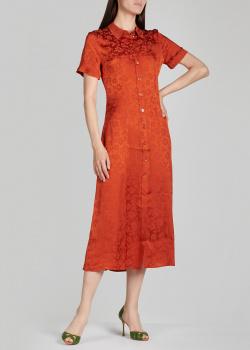 Приталенное платье Alexa Chung красного цвета, фото