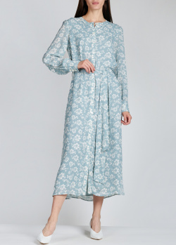 Голубое платье Alexa Chung с флористическим принтом, фото
