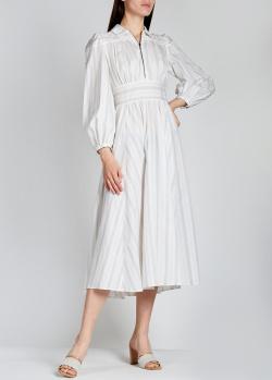 Платье в полоску Alexa Chung средней длины, фото