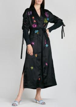 Платье-кимоно Cinq a Sept с цветочной вышивкой, фото