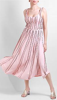 Розовое платье Silvian Heach с рюшами, фото