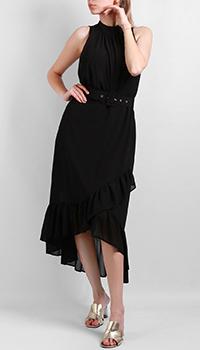 Черное платье Silvian Heach с поясом, фото