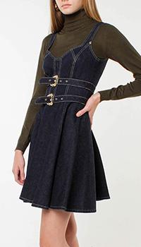 Джинсовый сарафан Versace Jeans Couture темно-синего цвета, фото