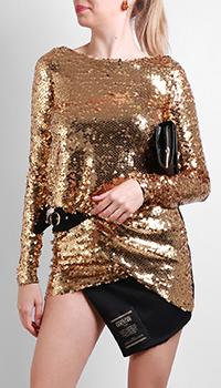 Золотистое платье Versace Jeans Couture в пайетках, фото