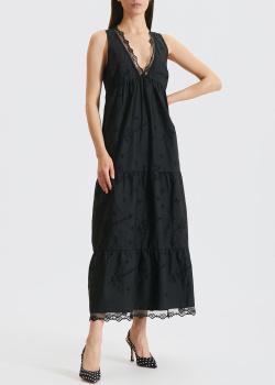 Черное платье Ermanno Scervino с вышивкой, фото