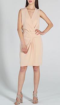 Платье DVF бежевого цвета с запахом, фото