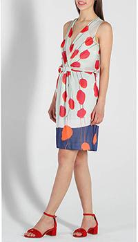Шелковое платье DVF с цветочным принтом, фото