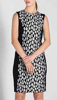 Платье-футляр DVF с серым узором, фото