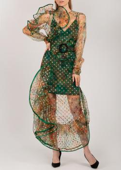 Длинное платье Nadya Dzyak с оборками и воланами, фото
