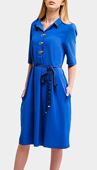 Платье-рубашка VDP синего цвета, фото