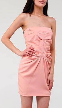 Персиковое платье Elisabetta Franchi с драпировкой, фото