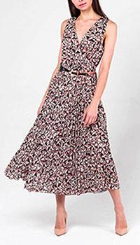 Платье миди Elisabetta Franchi с принтом-звездами, фото