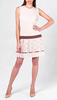 Платье Elisabetta Franchi с плиссированной юбкой, фото