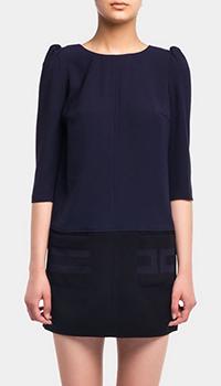 Двухцветное платье Elisabetta Franchi с рукавами 3/4, фото