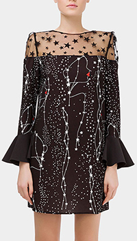 Мини-платье Elisabetta Franchi с принтом из звезд, фото