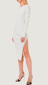 Платье Elisabetta Franchi белого цвета, фото