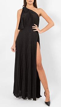 Черное платье Elisabetta Franchi на одно плечо , фото