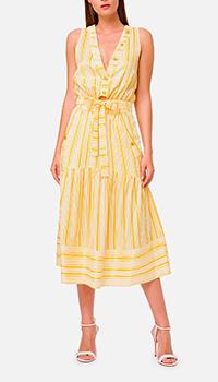 Желтое платье Elisabetta Franchi в полоску, фото