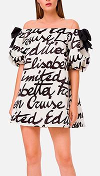 Платье Elisabetta Franchi с бантами, фото