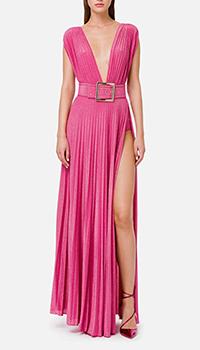 Розовое платье Elisabetta Franchi с разрезами, фото
