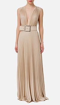 Платье Elisabetta Franchi с плиссированной юбкой в пол, фото