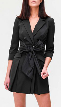 Платье-пиджак Elisabetta Franchi с объемным бантом, фото