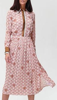 Платье-миди Elisabetta Franchi с контрастными вставками, фото