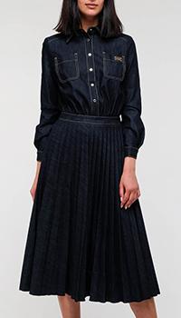 Джинсовое платье Elisabetta Franchi синего цвета, фото
