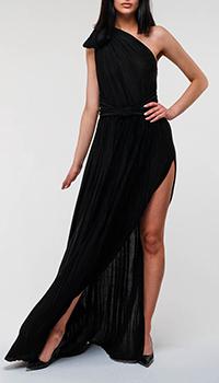 Черное платье Elisabetta Franchi на одно плечо, фото
