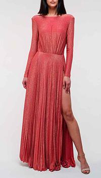 Красное платье Elisabetta Franchi с цепочкой на спине, фото