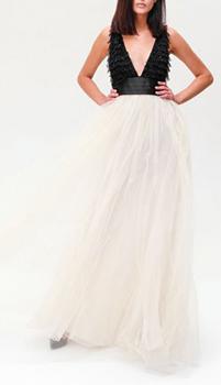 Пышное платье Elisabetta Franchi с фатиновой юбкой, фото