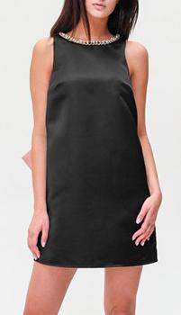 Черное платье Elisabetta Franchi с открытой спиной, фото