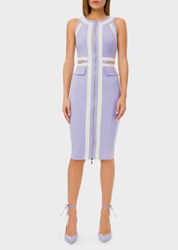 Платье-футляр Elisabetta Franchi с фирменным декором, фото