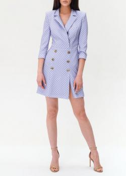 Платье-пиджак Elisabetta Franchi с фирменным принтом, фото