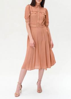 Бежевое платье Elisabetta Franchi средней длины, фото