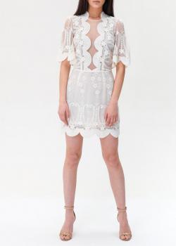Кружевное платье Elisabetta Franchi с фестончатой отделкой, фото