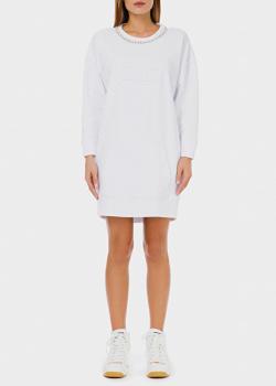 Белое платье Elisabetta Franchi с декором-цепочкой, фото
