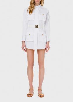 Платье-рубашка Elisabetta Franchi белого цвета, фото