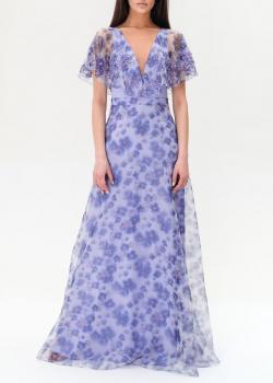 Длинное платье Elisabetta Franchi с цветочным принтом, фото