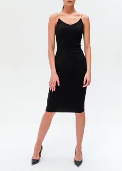 Платье-футляр Elisabetta Franchi на бретелях-цепочках, фото