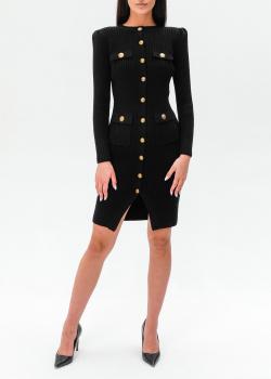 Трикотажное платье Elisabetta Franchi на пуговицах, фото