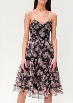 Черное платье Elisabetta Franchi с открытым декольте, фото