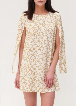 Короткое платье Elisabetta Franchi с разрезами на рукавах, фото