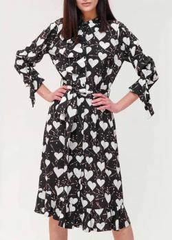 Платье-рубашка Elisabetta Franchi с принтом в виде сердец, фото