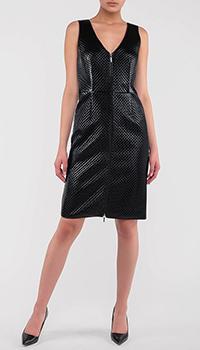 Стеганое платье Emporio Armani на молнии, фото