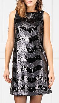 Черное платье Emporio Armani с пайетками, фото