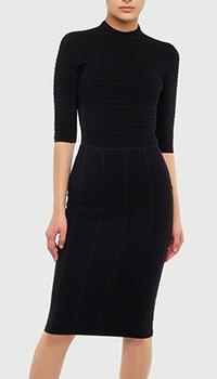 Платье-футляр Emporio Armani черного цвета, фото