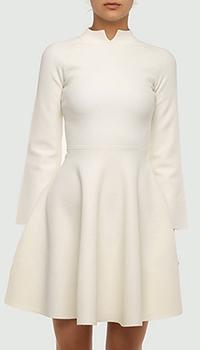 Белое платье Emporio Armani с фактурным узором, фото