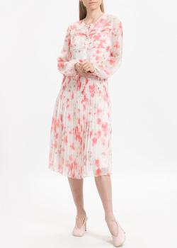 Плиссированное платье Emporio Armani из шелка, фото
